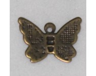 Colgante Metal  Mariposa 11x9mm. Bronce antiguo.