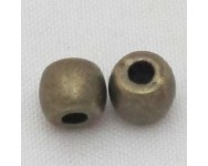Barril Zamak  6x5mm. Bronce Antiguo