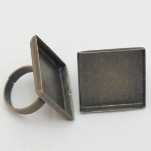 Anillo Laton Cuadrado. Interior 25mm. Bronce Antiguo