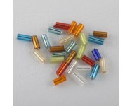 Canutillo Cristal 4x2mm Multicolor.  - 1 BOLSA 10 GR -