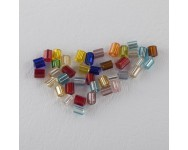 Canutillo Cristal 2x2mm Multicolor.  - 1 BOLSA 10 GR -