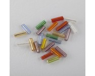 Canutillo Cristal 6x2mm Multicolor.  - 1 BOLSA 10 GR -