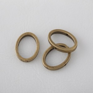 Marco Metal Oval 19x15x1mm. Bronce Antiguo