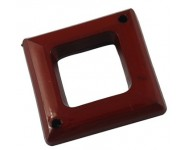 Rombo Facetado Acrilico 40x40x7mm Marron.  - 1 UNIDAD -