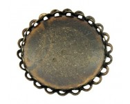 Cabuchon Laton 29mm. Interior 25mm. Bronce Antiguo