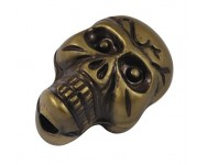Calavera Acrilico Antiguo 24x15mm. Bronce Antiguo