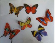 Mariposas papel 10x8mm. Multicolores