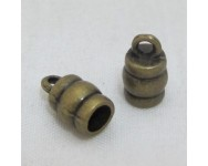 Terminal Metal 10x6mm. Int. 3mm. Bronce antiguo.